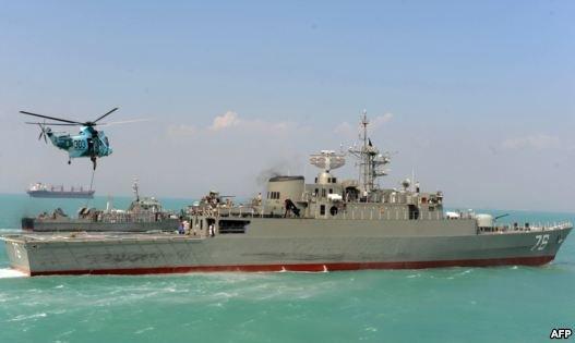 هشدار ایران به هلیکوپتر خارجی در جریان رزمایش آبهای جنوب