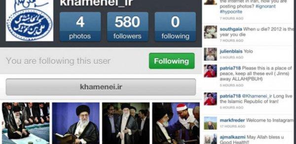 حضور رهبر ایران در شبکه اجتماعی اینستاگرام