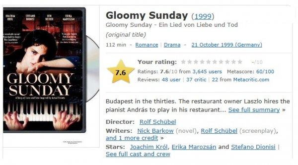 یکشنبه غمانگیز Gloomy Sunday