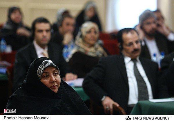 خواهر و همسر احمدی نژاد و صالحی در یک اجلاس