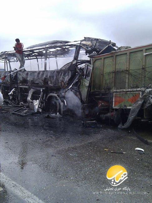 فرمانده پلیسراه : آتش گرفتن ۳ اتوبوس اسکانیا تنها در ۱۵ روز