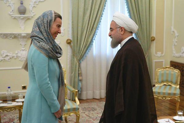 دیدارهای موگرینی در ایران و عربستان: باحجاب در تهران، بیحجاب در ریاض+ تصاویر